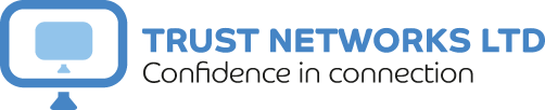 Blue verison of the Trust Networks Ltd logo.