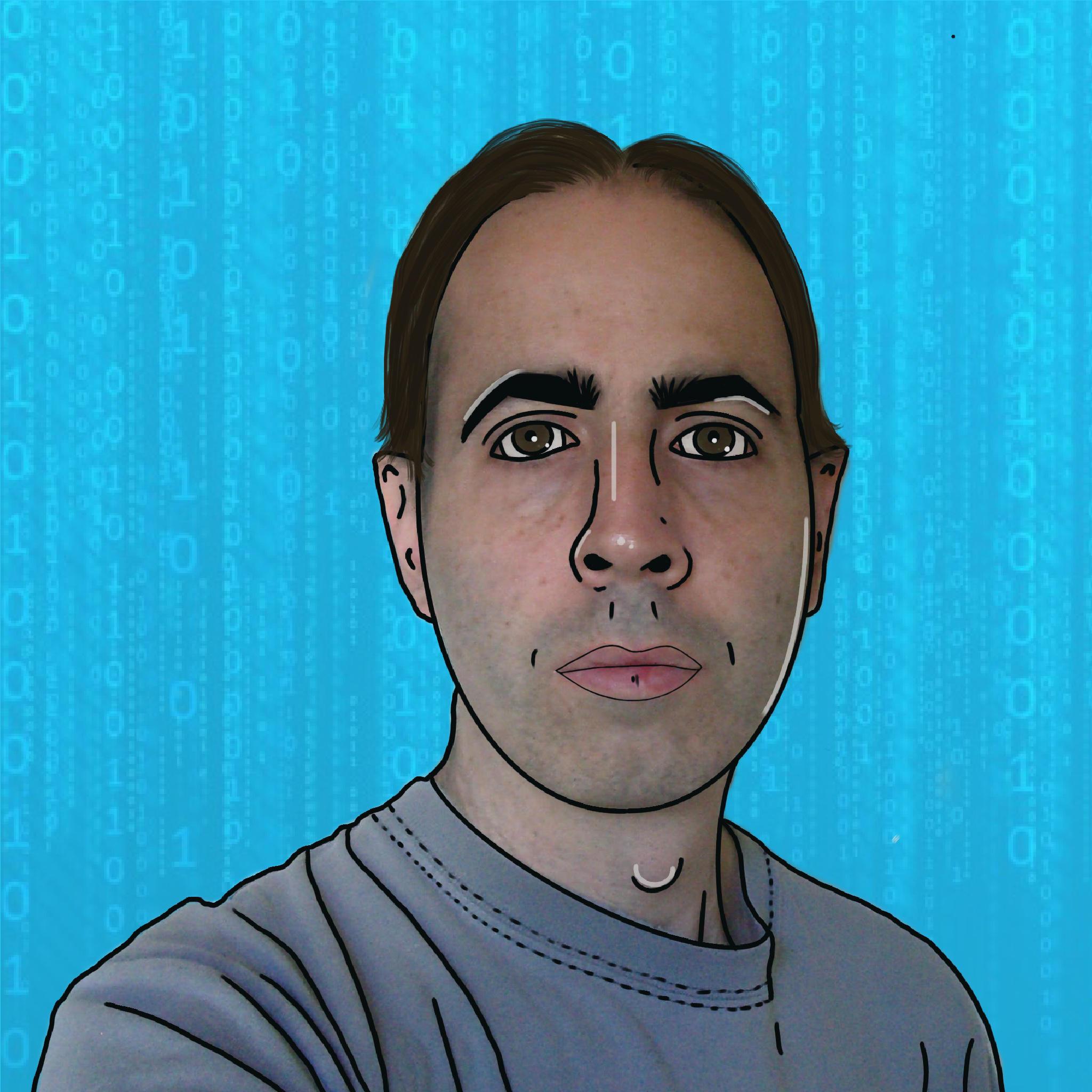 Cartoon image of Daniel who works at Trust Networks Ltd
