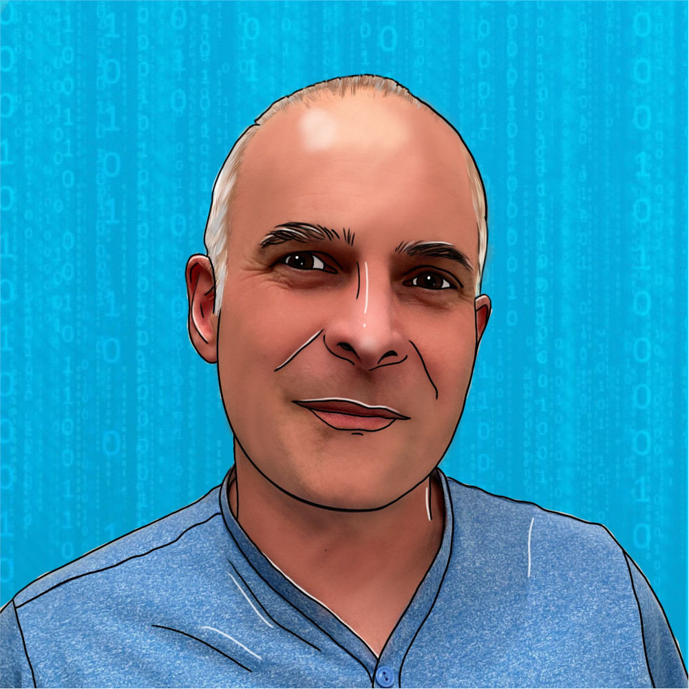 Cartoon image of Andy who works at Trust Networks Ltd